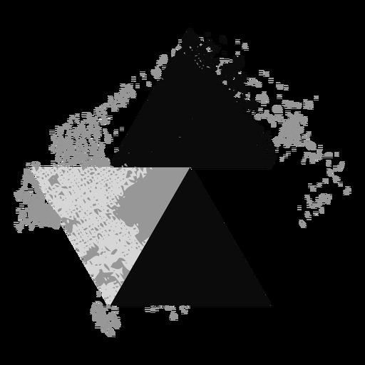 Logotipo de triángulo grunge Transparent PNG