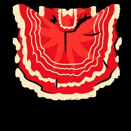 Vestido guajiniquil honduras ilustración
