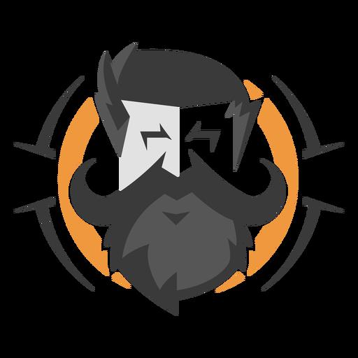 Handlebar moustache face logo
