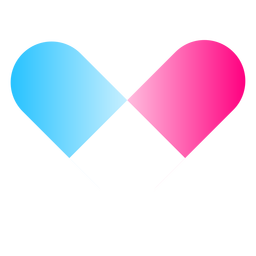 Heart gradient logo