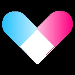 Logotipo do gradiente de coração