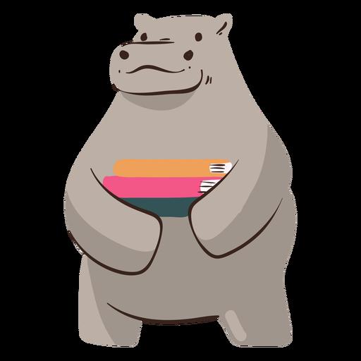 Los libros de hipopótamos estudian el carácter.