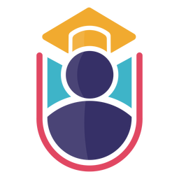 Icon graduation cap logo
