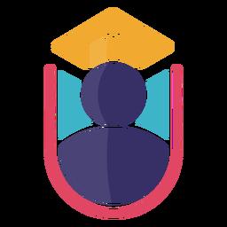 Logotipo da tampa de formatura do ícone