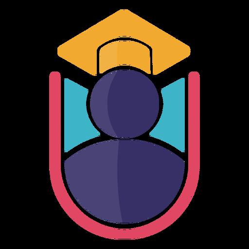 Logo de gorro de graduación de icono