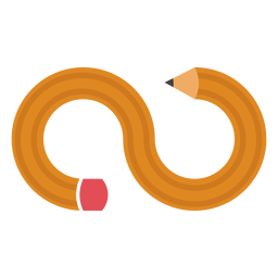 Logotipo de lápiz infinito