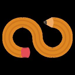 Logotipo do lápis infinito