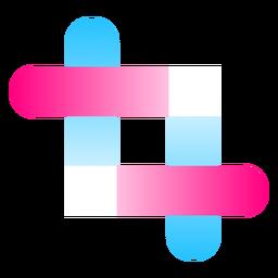 Logo degradado de líneas entrelazadas
