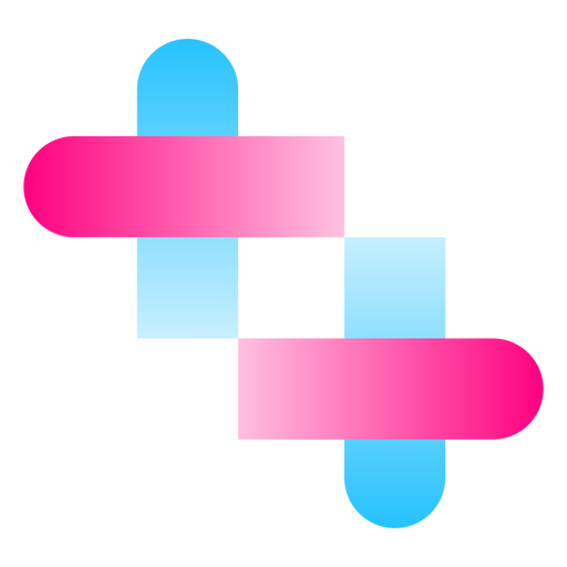 Intertwined lines gradient logo