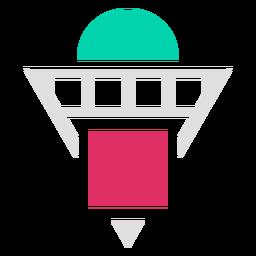 Logotipo de formas de cuadrícula de triángulo invertido