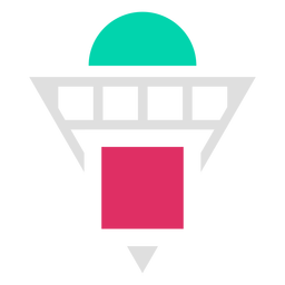 Logotipo de formas de grade de triângulo invertido