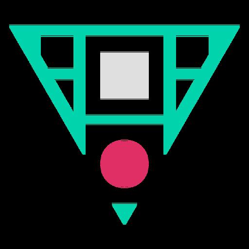 Logotipo en forma de triángulo invertido