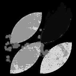 Blatt-Grunge-Logo