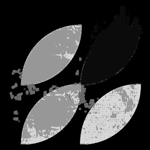 Logotipo de hoja grunge Transparent PNG