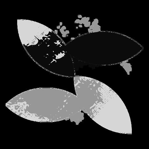 Leaves grunge logo Transparent PNG