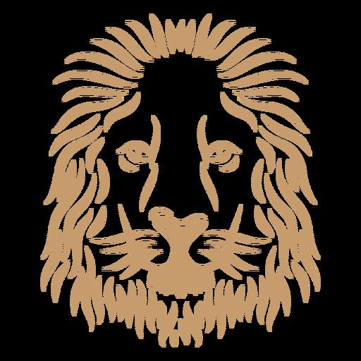 Lion head curve stroke