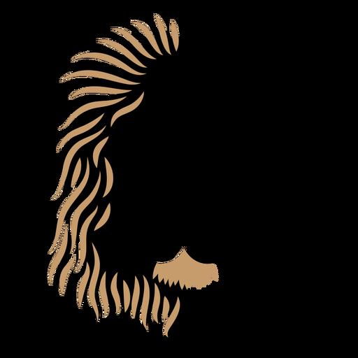 Lion head duotone Transparent PNG