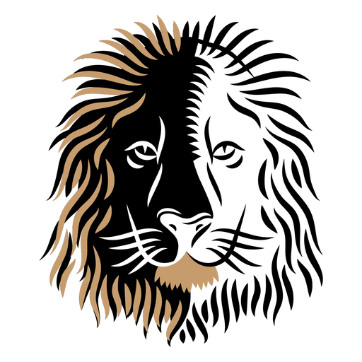 Lion head duotone