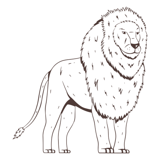 Dibujado a mano del lado del león