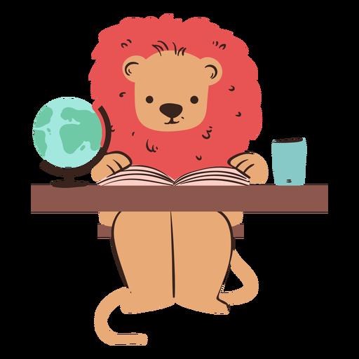 León estudiando carácter