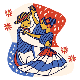 Merengue dominican republic couple doodle