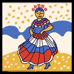 Doodle de república dominicana de merengue