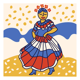 Merengue dominican republic doodle