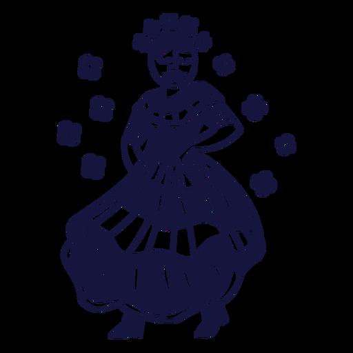 Doodle monocromo dominicano de merengue