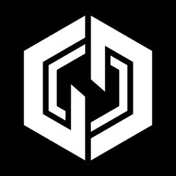 Logotipo de hexágono abstracto monocromo