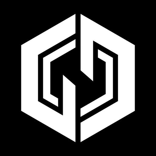 Logotipo de hexágono abstracto monocromo Transparent PNG