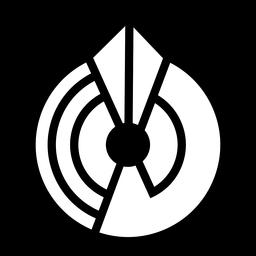 Logotipo abstracto círculo monocromo