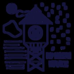 Montecristi watch monochrome doodle