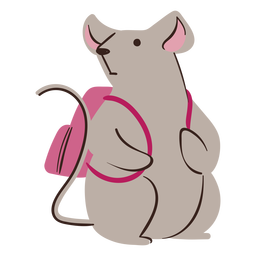 Mouse backpack study character