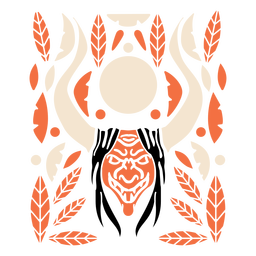 Nicaragua mask horns