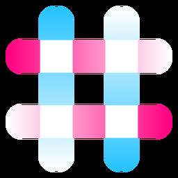 Number sign gradient logo
