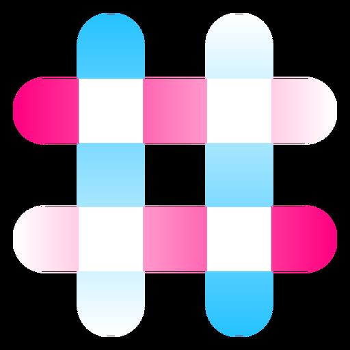 Logotipo degradado de signo de n?mero