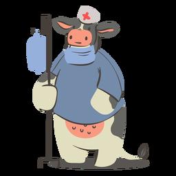 Krankenschwester Kuh Charakter