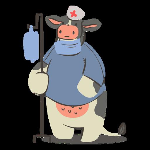 Carácter de vaca enfermera
