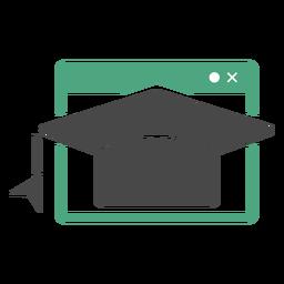 Logotipo de graduación en línea