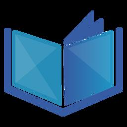 Logotipo geométrico de libro abierto
