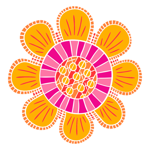 Ornate flower shapes cut out