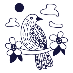 Palmchat monochrome doodle