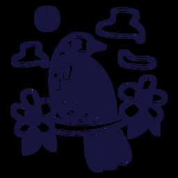 Palmchat monochromes Gekritzel