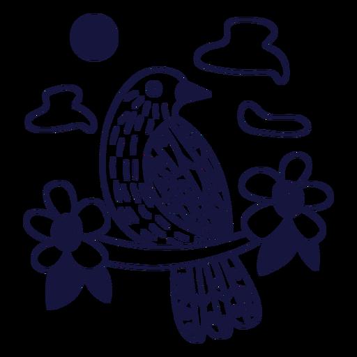 Palmchat monochrome doodle Transparent PNG