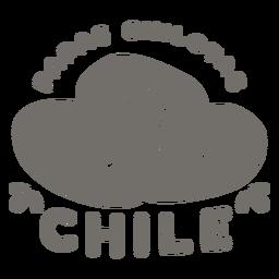 Papas chilotas chile monochrome