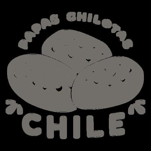 Papas chilotas chile monocromo