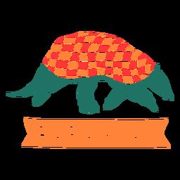 Armadillo de Paraguay cortado