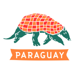 Paraguay armadillo cut out