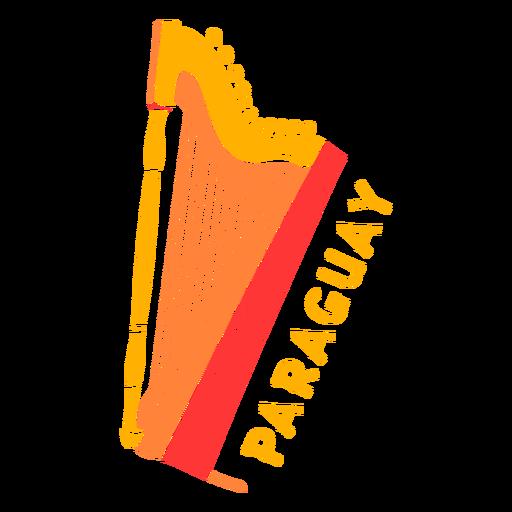 Paraguay Harfe ausgeschnitten