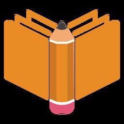 Logotipo do lado do livro a lápis